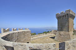 Castello Di Populonia, Italië royalty-vrije stock afbeelding