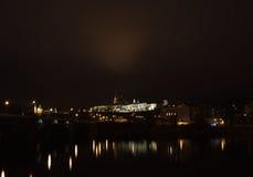 Castello di Praga alla notte 2 Fotografia Stock
