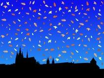 Castello di Praga in autunno Fotografie Stock