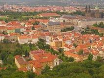 Castello di Praga da Petrin Fotografia Stock Libera da Diritti