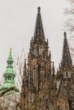 Castello di Praga e cattedrale della st Vitus Immagini Stock