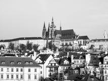 Castello di Praga e cattedrale della st Vitus Immagine Stock Libera da Diritti
