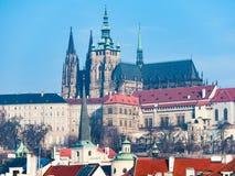Castello di Praga e cattedrale della st Vitus Immagine Stock