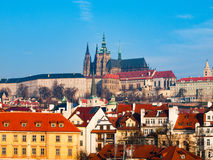 Castello di Praga e cattedrale della st Vitus Fotografie Stock