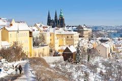 Castello di Praga e poca città, Praga (Unesco), repubblica Ceca Fotografia Stock