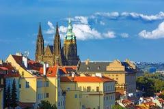 Castello di Praga e san Vitus Cathedral, repubblica Ceca Fotografia Stock Libera da Diritti