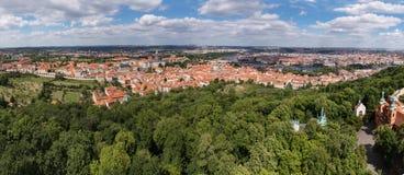 Castello di Praga e san Vitus Cathedral, repubblica Ceca Vista panoramica Immagine Stock