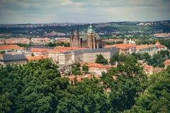 Castello di Praga e san Vitus Cathedral, repubblica Ceca Vista panoramica Fotografia Stock