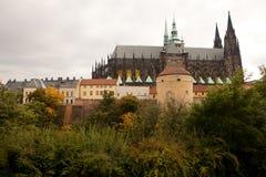 Castello di Praga e st Vitus Immagine Stock Libera da Diritti