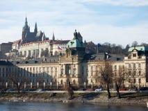 Castello di Praga e st Vitus Cathedral Immagini Stock