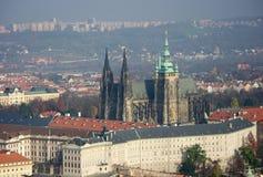 Castello di Praga - immagine della st Vitus Cathedral Immagine Stock