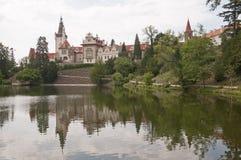Castello di Pruhonice Fotografia Stock Libera da Diritti