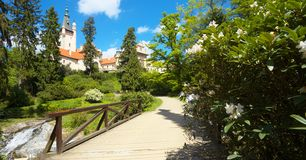 Castello di Prunonice Praga vicina immagine stock libera da diritti