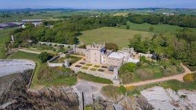 Castello di Quintin Portaferry basso della contea, Irlanda del Nord immagini stock