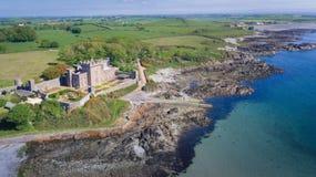 Castello di Quintin Portaferry basso della contea, Irlanda del Nord immagine stock