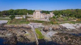 Castello di Quintin Portaferry basso della contea, Irlanda del Nord fotografia stock