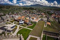 Castello di Rabati da sopra fotografia stock libera da diritti
