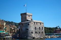castello di rapallo Arkivbild