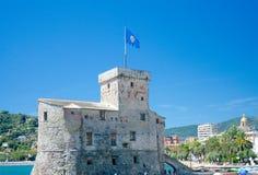 Castello di Rapallo (Castello sulsto; circa 1551), Rapallo, det Royaltyfri Foto