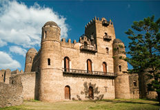 Castello di re etiopico nel gonder Etiopia gondar Fotografie Stock