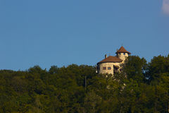 Castello di Reichenstein nel villaggio Arlesheim Fotografia Stock