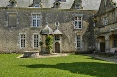 Castello di rinascita di Talcy in Loir et in Cher immagine stock