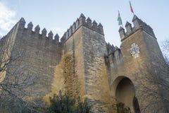 Castello di Rio del di Almodovar, Cordova, Spagna Immagini Stock Libere da Diritti