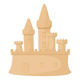 Castello di sabbia Immagini Stock Libere da Diritti