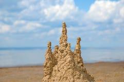 Castello di sabbia Fotografia Stock Libera da Diritti