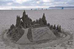 Castello di sabbia al del Coronado dell'hotel in California Fotografia Stock