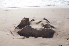 Castello di sabbia di ieri Immagini Stock Libere da Diritti