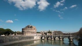 Castello di San Angelo, panorama, Roma, Italia Tempo stock footage