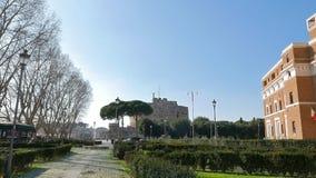 Castello di San Angelo Roma, angelo di ItalyCastle San video d archivio