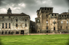 Castello di San Giorgio (palais ducal) dans Mantua, Italie Images stock