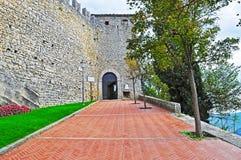 Castello di San Marino un giorno nuvoloso Fotografia Stock