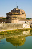 Castello di Sant' Angello, Rome. The fortress of Sant'Angelo and its reflection in river Tevere, Rome royalty free stock photos