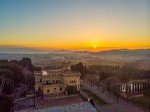 Castello di Sant Marçal in Cerdanyola spain fotografia stock libera da diritti