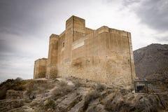 Castello di Santa Barbara Ayala nella città di Cox, provincia di Alicante, Spagna fotografia stock
