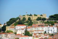 Castello di sao Jorge, Lisbona, Portogallo Fotografia Stock