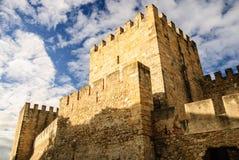 Castello di sao Jorge, Lisbona, Portogallo Fotografie Stock Libere da Diritti