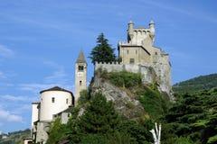Castello di Sarre, Italien Stockfotos