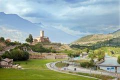 Castello di Sarre nella valle d'Aosta, Italia del Nord Immagini Stock Libere da Diritti