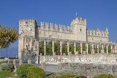 Castello di Scaliger in Torri del Benaco immagini stock libere da diritti