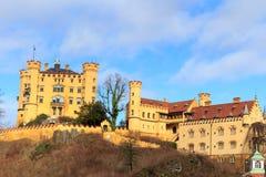 Castello di Schloss Hohenschwangau (alto palazzo) della contea del cigno, Fussen, Baviera, Germania Immagine Stock Libera da Diritti