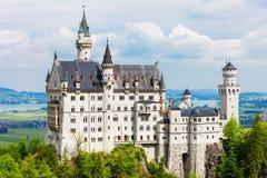 Castello di Schloss il Neuschwanstein, Germania Immagine Stock
