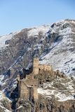 Castello di Seytan in Ardahan, Turchia Fotografia Stock