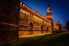 Castello di Sforza Fotografia Stock Libera da Diritti