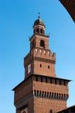 Castello di Sforza in Milan Italy - Castello Sforzesco Fotografie Stock Libere da Diritti