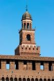 Castello di Sforza in Milan Italy - Castello Sforzesco Fotografie Stock