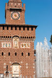 Castello di Sforza in Milan Italy - Castello Sforzesco Immagini Stock